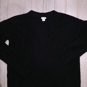 J crew black v neck sweater